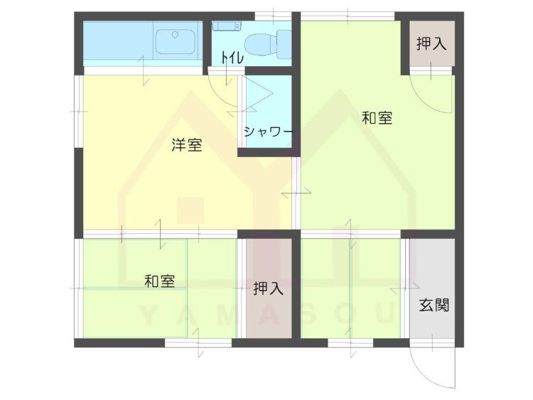 西淀川区御幣島5丁目 3DK貸ハイツの間取り画像